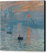 Impression Sunrise Canvas Print by Claude Monet