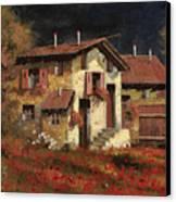 In Campagna La Sera Canvas Print by Guido Borelli