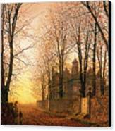 In The Golden Olden Time Canvas Print by John Atkinson Grimshaw