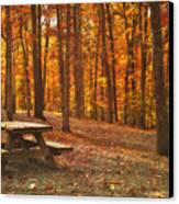 In The Park Canvas Print by Kathy Jennings