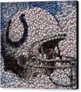 Indianapolis Colts Bottle Cap Mosaic Canvas Print by Paul Van Scott