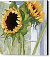Indoor Sunflowers II Canvas Print by Trina Teele