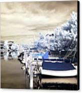 Infrared Boats At Lbi Canvas Print by John Rizzuto