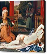 Ingres: Odalisque Canvas Print by Granger