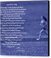 Inspiration For Today Runner  Canvas Print by Cathy  Beharriell