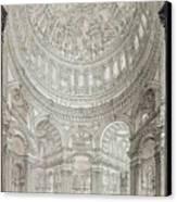 Interior Of Saint Pauls Cathedral Canvas Print by John Coney