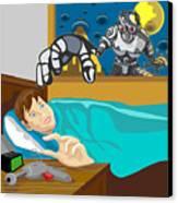 Invading Alien Robot Canvas Print by Aloysius Patrimonio