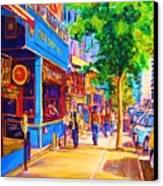 Irish Pub On Crescent Street Canvas Print by Carole Spandau