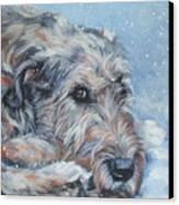 Irish Wolfhound Resting Canvas Print by Lee Ann Shepard