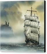 Island Mist Canvas Print by James Williamson