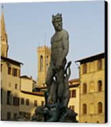 Italy, Florence, Neptune Fountain Canvas Print by Sisse Brimberg & Cotton Coulson