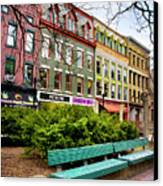 Ithaca Commons Canvas Print by Christina Rollo