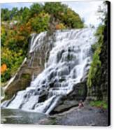 Ithaca Falls Canvas Print by Christina Rollo