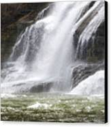 Ithaca Falls On Fall Creek - Mountain Showers Canvas Print by Christina Rollo