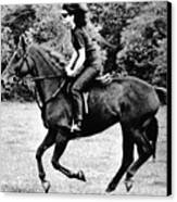 Jacqueline Kennedy, Riding A Horse Canvas Print by Everett