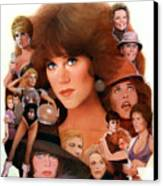 Jane Fonda Tribute Canvas Print by Bill Mather