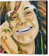 Janis Joplin  Canvas Print by Joseph Palotas