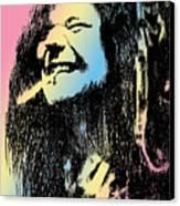 Janis Joplin Canvas Print by Robbi  Musser
