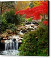 Japanese Garden Brook Canvas Print by Jon Holiday
