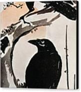 Japanese Print: Crow Canvas Print by Granger