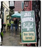 Jazz Brunch Canvas Print by Linda Kish