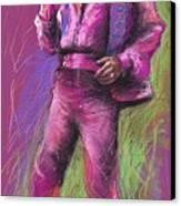 Jazz James Brown Canvas Print by Yuriy  Shevchuk