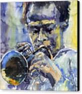 Jazz Miles Davis 12 Canvas Print by Yuriy  Shevchuk