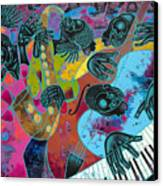Jazz On Ogontz Ave. Canvas Print by Larry Poncho Brown