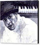 Jazz Roberto Fonseca Canvas Print by Yuriy  Shevchuk