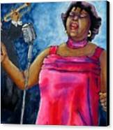 Jazzy Lady Canvas Print by Linda Marcille