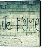 Je T'aime Canvas Print by Will Grant