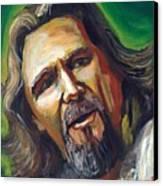 Jeffrey Lebowski The Dude Canvas Print by Buffalo Bonker