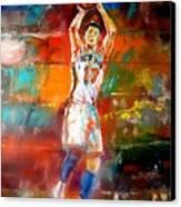 Jeremy Lin New York Knicks Canvas Print by Leland Castro
