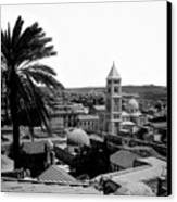 Jerusalem View From The Southwest Canvas Print by Munir Alawi