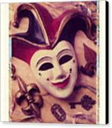 Jester Mask Canvas Print by Garry Gay