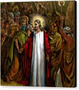 Jesus Betrayed Canvas Print by John Lautermilch