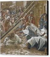 Jesus Meets His Mother Canvas Print by Tissot