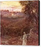 Jesus On The Mount Of Olives Canvas Print by William Brassey Hole