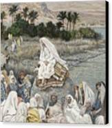 Jesus Preaching By The Seashore Canvas Print by Tissot