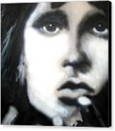 Jim Morrison Ravens Claws   Canvas Print by Jon Baldwin  Art