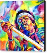Jimi Hendrix Electric Canvas Print by David Lloyd Glover