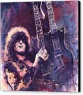 Jimmy Page  Canvas Print by Yuriy  Shevchuk