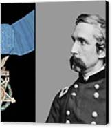 J.l. Chamberlain And The Medal Of Honor Canvas Print by War Is Hell Store