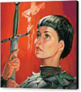 Joan Of Arc Canvas Print by James Edwin McConnell