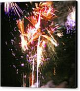 Joe's Fireworks Party 2 Canvas Print by Charles Harden