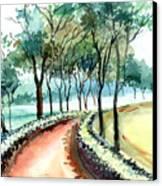 Jogging Track Canvas Print by Anil Nene
