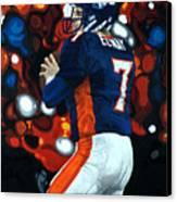 John Elway - Legacy Canvas Print by Mike Lorenzo