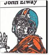 John Elway 2 Canvas Print by Jeremiah Colley