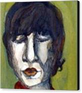 John Lennon As An Elf Canvas Print by Mindy Newman