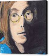 John Lennon Pastel Canvas Print by Jimi Bush